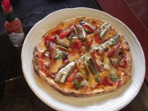 青なす、白なすの夏野菜ピッツァ