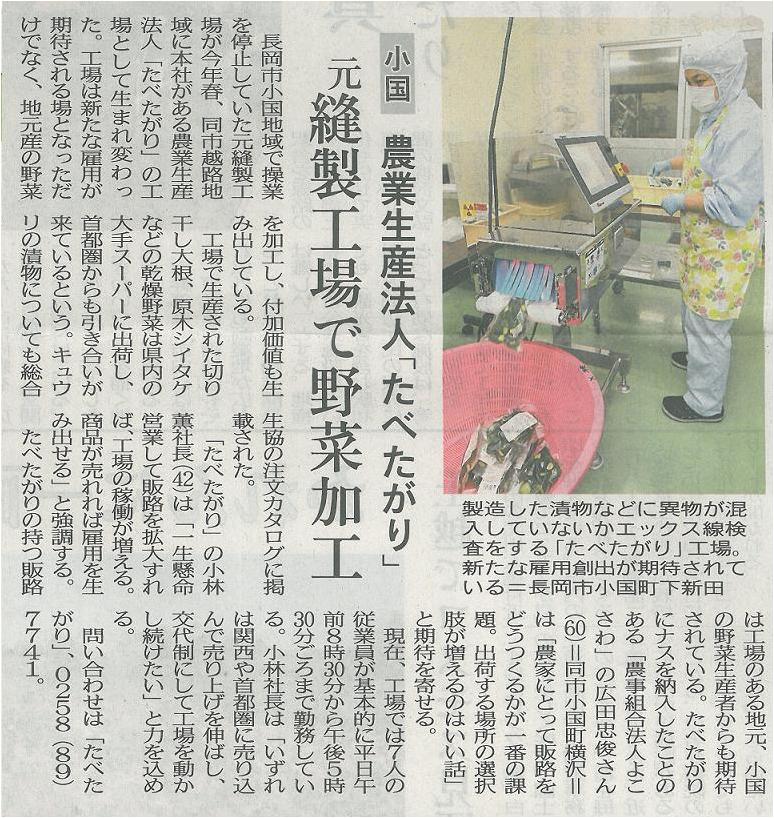 『新潟日報』 2013年10月23日