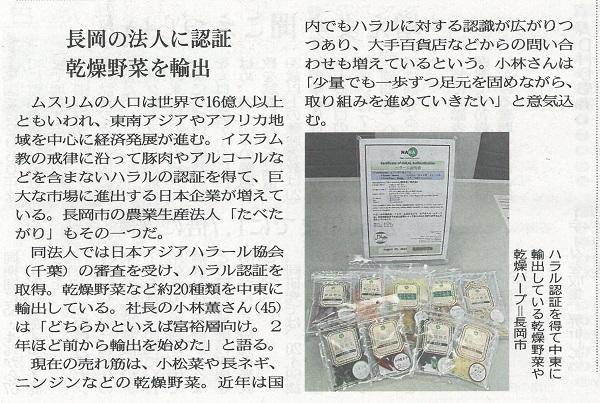 『新潟日報 おとなプラス』 2017年3月23日